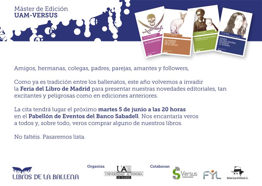 Presentación de las novedades en la Feria del Libro de Madrid